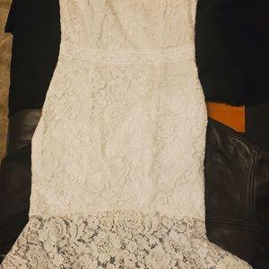White mermaid dress
